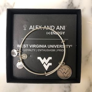 The West Virginia University Alex and Ani bangle